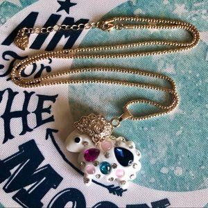 NEW✨ Betsey Johnson Sheep Lamb Rainbow CZ Necklace